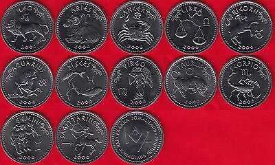 "Somaliland set of 12 coins: 10 shillings 2006 ""Zodiac Series"" UNC"