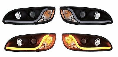 Peterbilt 386/387 LED Projection Headlight SET- (BLACKOUT STYLE) PRE-SALE !
