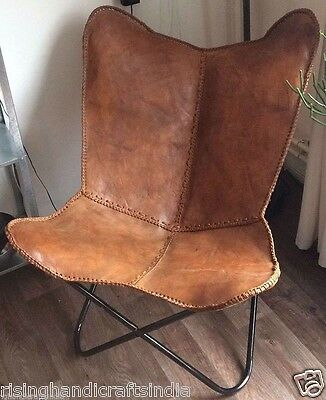 Smooth Leather Butterfly Chair Beautiful Modern Seat Leather Chair Ehs B001