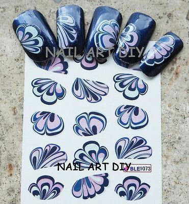 Nail Art Water Transfer Stickers-DecalAdesivi Unghie-Alette-Effetto Water Marble