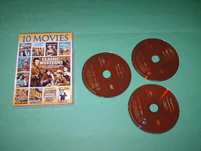 Classic Westerns: 10 Movie Collection (DVD, 2013, 3-Disc Set)