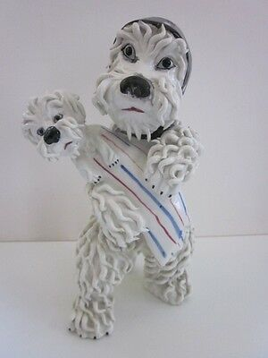 Vintage Spaghetti Dog Italy Mom and Baby Large Heavy Unique