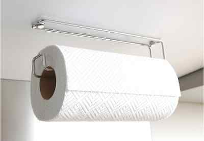 Kitchen Roll Holder Wall / Under Cupboard Mounted Space Saver Stainless Steel