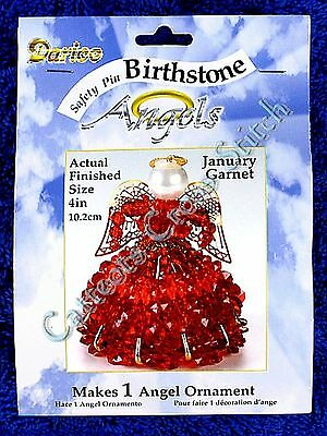 Angel Birthstone Bead Kit #01 ~ January / Garnet