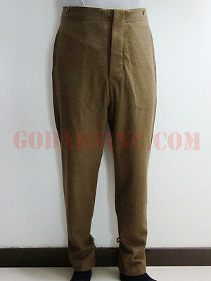 WW1 British Army Brown Wool Servie Dress SD trousers L