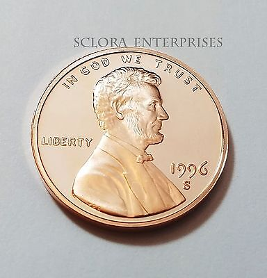 1996 S Lincoln Memorial *proof* Cent / Penny  **free Shipping**