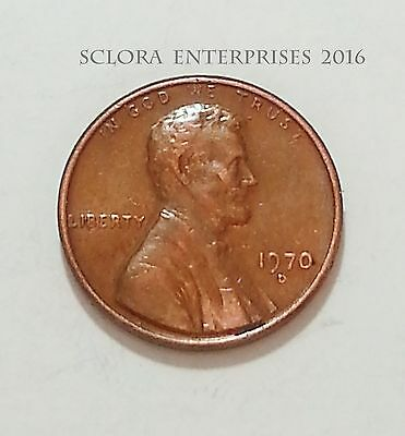 1970 D  Lincoln Memorial Cent / Penny  **FREE SHIPPING**