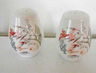 Souvenir China  Salt & Pepper Shakers Fish, Shells, Marine - New In Box