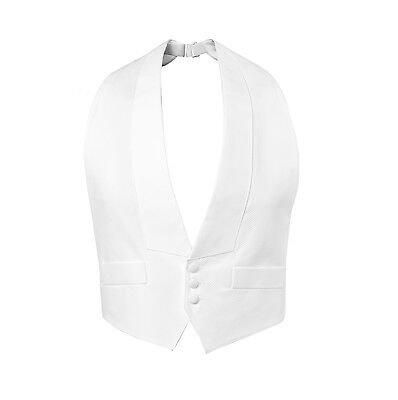 XS S M L XL XXL White Pique Vest Self tie Bow Tails Débutante Best Quality