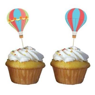 Up Up and Away Cupcake Toppers 12 Per Pack