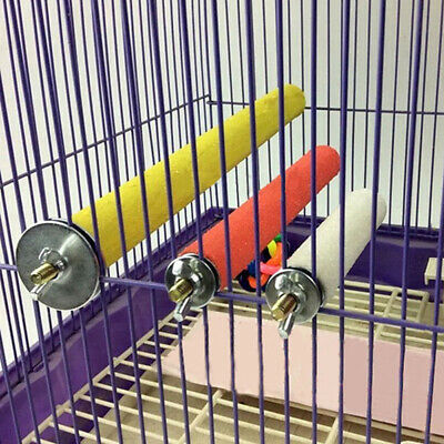 Colorful Pet Bird Parrot Bite Chew Toy Cage Paw Grinding Stand Perches Budgie