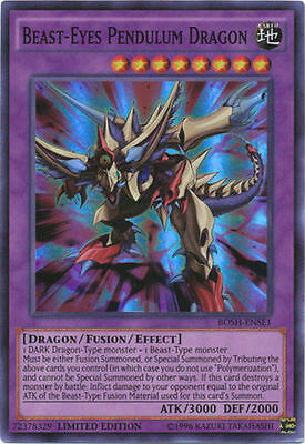 BEAST-EYES PENDULUM DRAGON - (BOSH-ENSE1) - Super Rare - Limited - Yu-Gi-Oh