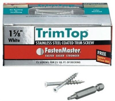 "75PK 1-5/8"" Trim Screws,No FMTT158-75WH,  Omg Inc, 3PK"
