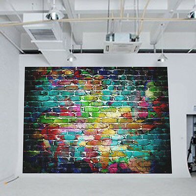 5x7ft Colorful Brick Wall Vinyl Backdrop Photography Props Background For Studio