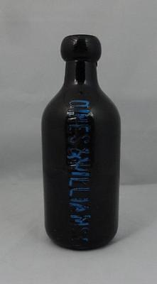 Antique Black Glass Dines & Williamson Ginger Beer Bottle Ca. 1890's