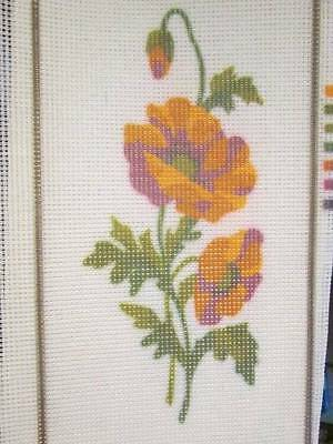 Poppies Needlepoint CANVAS #5013-5.5x11.5 Inches