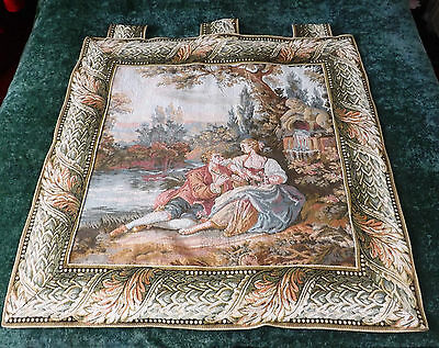 BEAUTIFUL WALL HANGING TAPESTRY of COURTING COUPLE UNDER A TREE