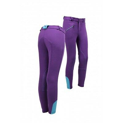 QHP Kids Riding Breeches for Girls in 7 Colours Size 6-7 to 16 years Top Quality