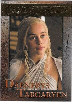 Game Of Thrones Season 5 Gold Parallel Insert #41 Daenerys Targaryen 112/150