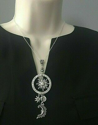 Silver Tone Celestial Dangle Dream Hope Trust Love Charm Necklace FREE SHIPPING!