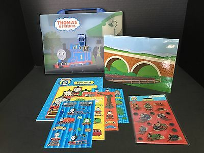 THOMAS THE TRAIN Traveling Storage Bag With Handle INCLUDES STICKERS & FUN PAD