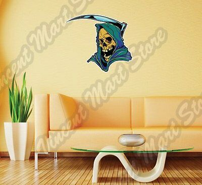 ANGEL OF DEATH REAPER ART 3D SMASHED WALL STICKER ROOM DECOR DECAL MURAL YU5