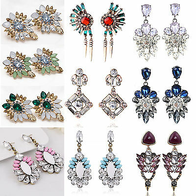 Best Luxury Women Crystal Rhinestone Big Dangle Drop Earrings Ear Stud Jewelry