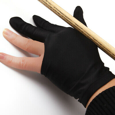 3 Finger Snooker Pool Shooter Billiard Table Cue Glove Stretchy Nylon Black