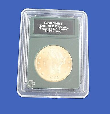 Premier Slab Coin Holder for 20 Dollar Gold Double Eagle with Labels
