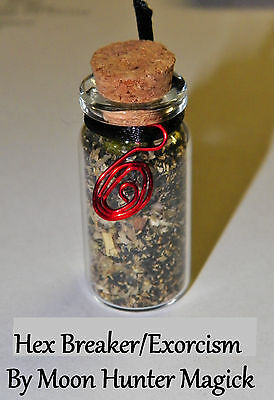 Hex Breaker & Exorcism 20+ years experience Uncrossing Spell Bottle Charm Amulet
