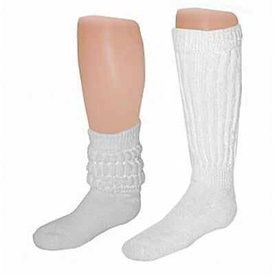 Pair Of Women's  Large Long Extra Heavy Cotton Workout Slouch Socks 9-11