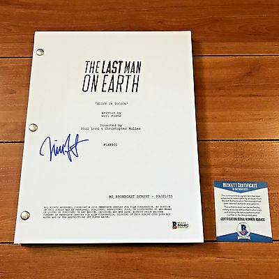 Will Forte Signed Last Man On Earth Full 22 Page Pilot Script - In Person Auto