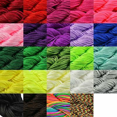 30m Kumihimo Cord Thread String Nylon Braided 1mm DIY Bracelet (Choose Colour)