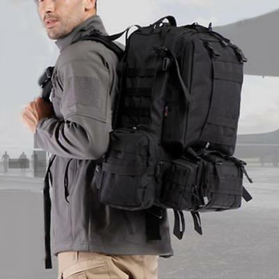 65L Military Camping Tactical Rucksack Molle Hiking Assault Backpack Bag