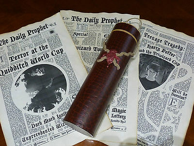 11X17inch The Daily Prophet Newspaper with gift box. 6 aged pages. Harry Potter