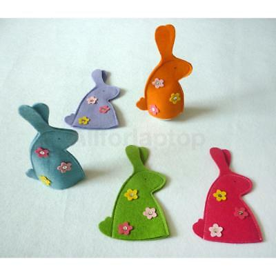 4 Stk Osterei Easter Egg Cover Halter Dekoration Ornament Kaninchen Form