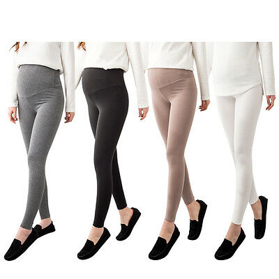[Soim] New Maternity Leggings Pregnant Bottoms Comfortable Elastic Comfy Belly