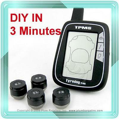 Tyredog TPMS TD1000 Tyre/Tire Pressure Monitor System New Chips package upgrade