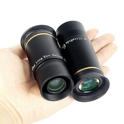 """New 1.25"""" 6mm+9mm Ultra Wide Angle Eyepiece Set for Astronomical Telescope Best"""