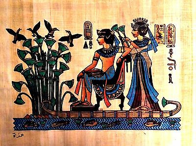 Egyptian Pharonic Art Papyrus Paper Royal Tombs & Temples Made in Egypt EA14