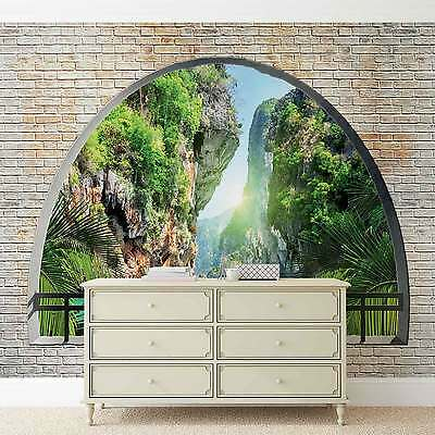 WALL MURAL Tropical Window View XXL PHOTO WALLPAPER (2836DC)