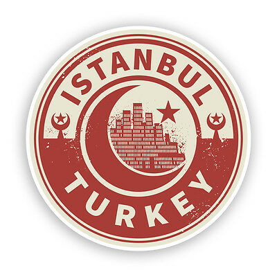 2 x I Was In Istanbul Vintage Vinyl Stickers Travel Luggage #7280