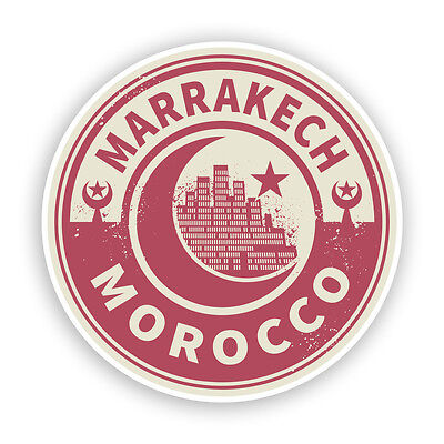 2 x Morocco Marrakech Vinyl Stickers Travel Luggage #7447