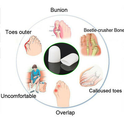 Silicone Gel Toe Tube Foot Corns Remover Blisters Bunion Toe Finger Protector
