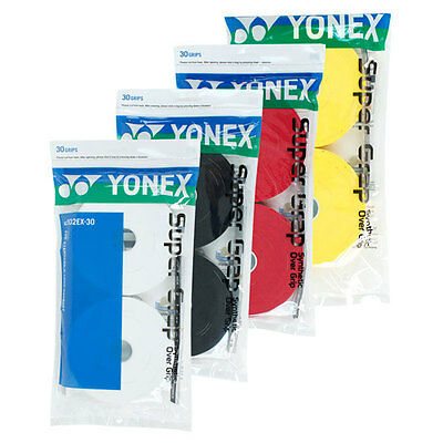 30 Yonex Super Grap Grips/Overgrips - Choice Of Colours - Free P&P