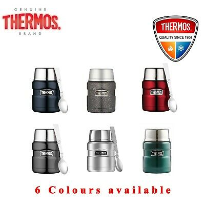 Thermos VACUUM Insulated Food Jar Thermo Flask Container 470ml With Spoon
