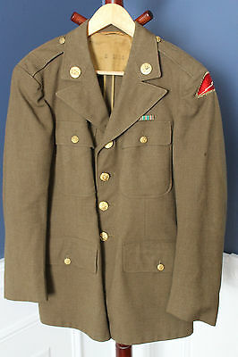 Original WW2 U.S. Army 78th Infantry Division Patched Uniform Jacket, 1942 d.