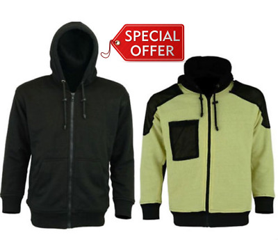 Motorcycle motorbike Removable Armoured Full Kevlar lined hoody