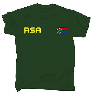 South Africa Flag T-SHIRT African Sport Cricket Soccer Rugby birthday gift