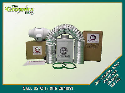 """4"""" Grow Tent Hydroponic Fan Filter Kit - Express FREE Delivery & FREE Gift"""